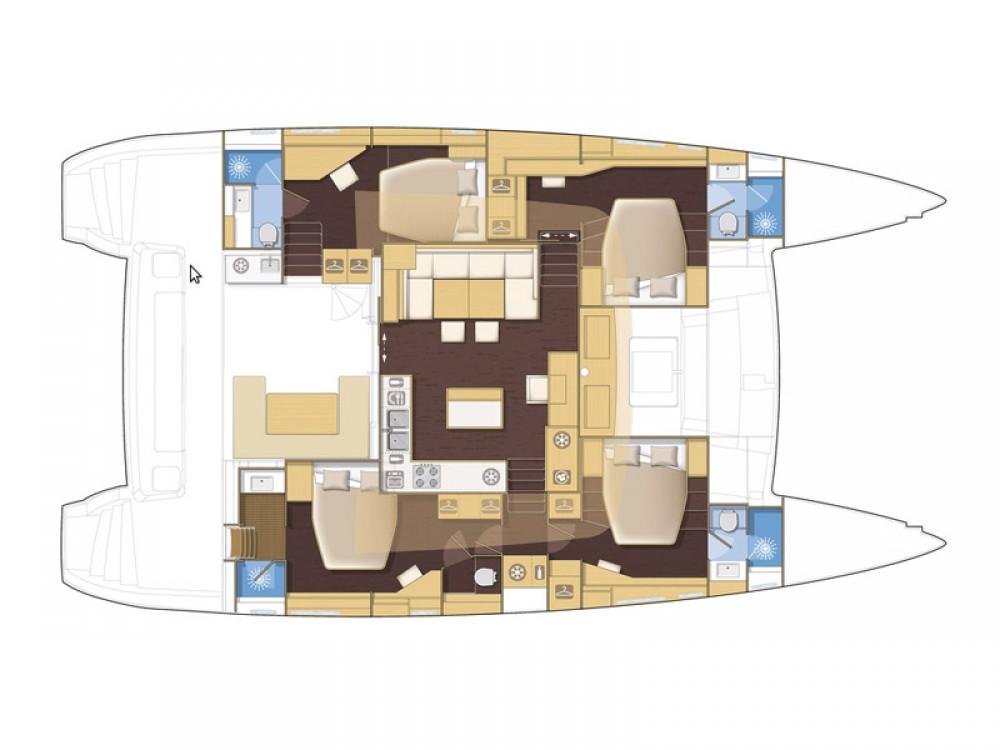 Catamaran te huur in Marina Kaštela voor de beste prijs