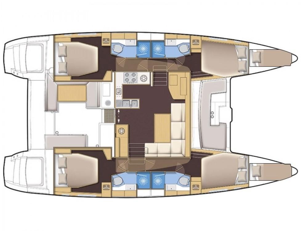 Huur Catamaran met of zonder schipper Lagoon in Marina Kaštela