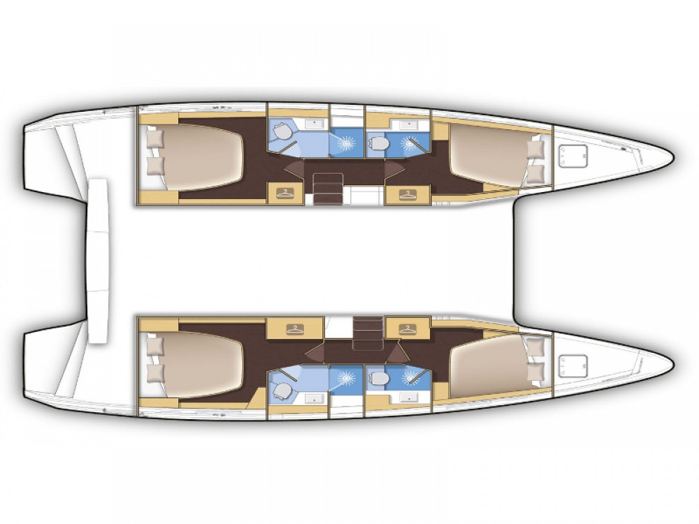 Huur Catamaran met of zonder schipper Lagoon in Capo d'Orlando