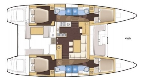 Huur Catamaran met of zonder schipper Lagoon in Salerno
