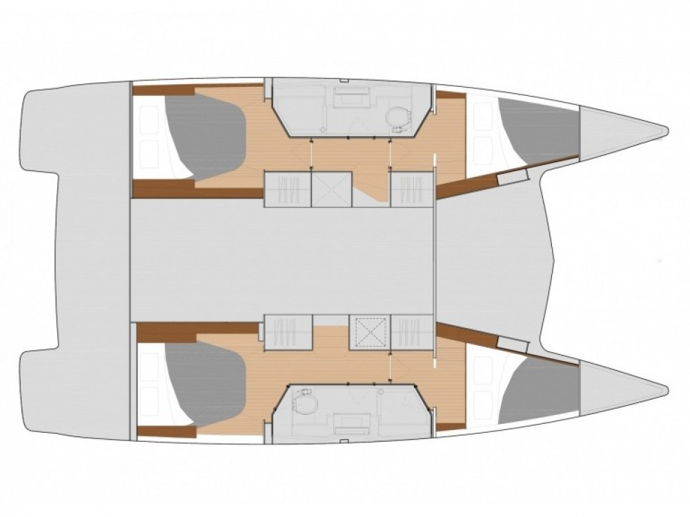 Fountaine Pajot Lucia 40 (4cab./2hds) te huur van particulier of professional in Mindelo