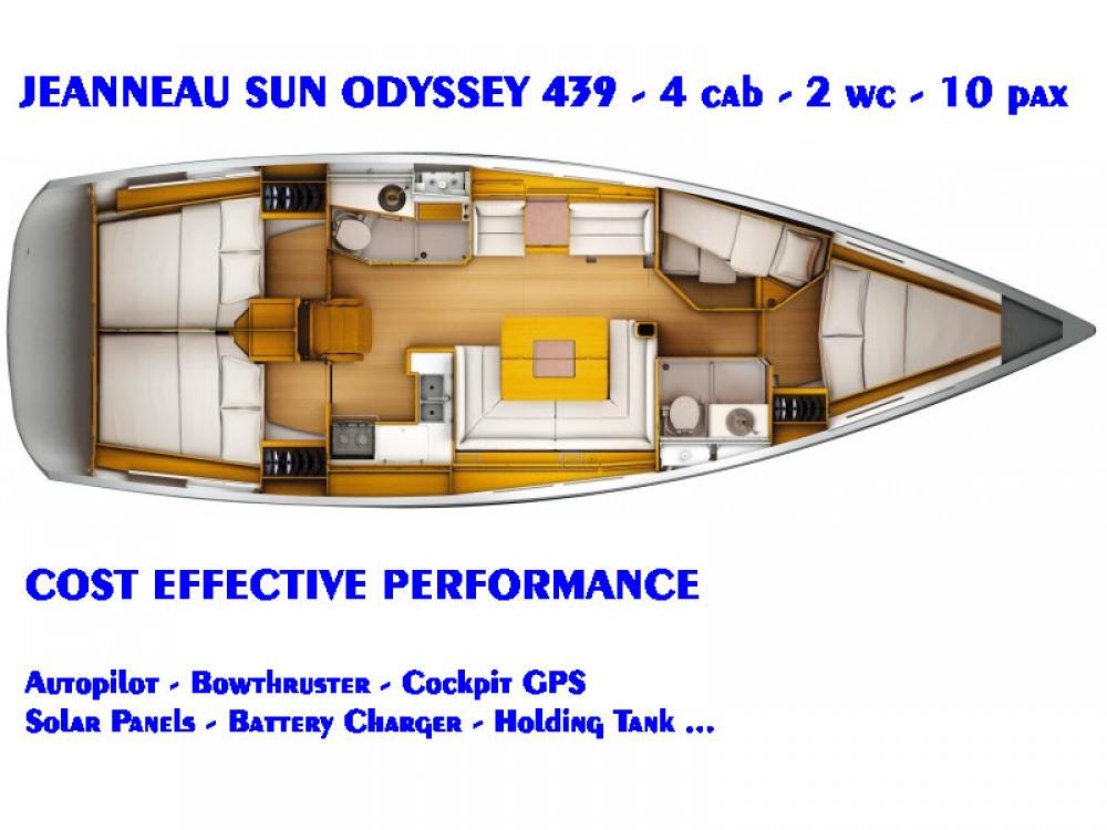 Jachthuur in Κως - Jeanneau Sun Odyssey 439 via SamBoat