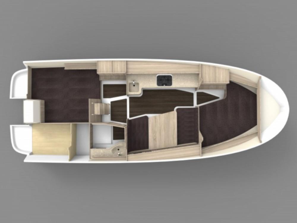 Verhuur Motorboot in Węgorzewo - Northman Nexus Revo 870 Prestige +/1cab