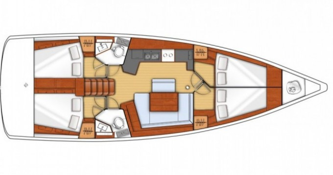 Verhuur Zeilboot in Marina di Portorosa - Bénéteau Oceanis 45