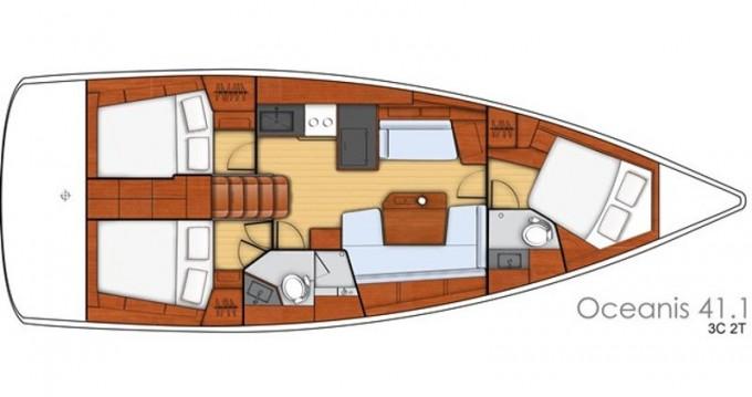 Verhuur Zeilboot in Lefkada (Island) - Bénéteau Oceanis 41.1