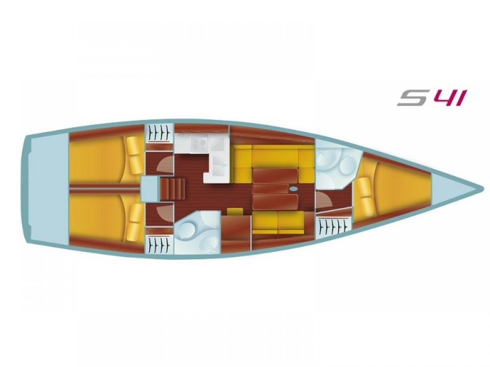 Verhuur Zeilboot in Marmaris - Salona Salona 41 Performance