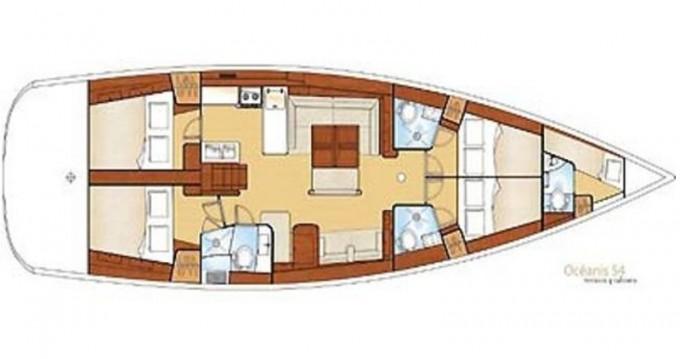 Verhuur Zeilboot in Sukošan - Jeanneau Sun Odyssey 54DS