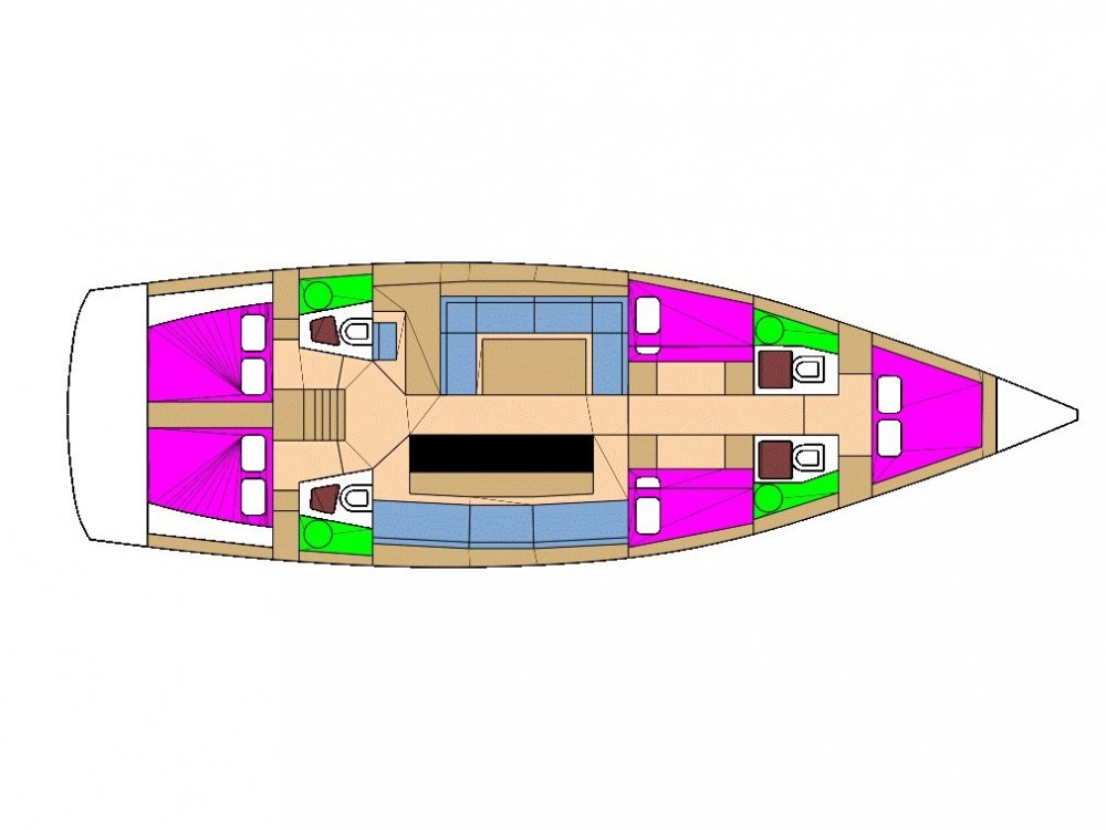 Bootverhuur D&d D&D Kufner 54.2 in ACI Marina Trogir via SamBoat