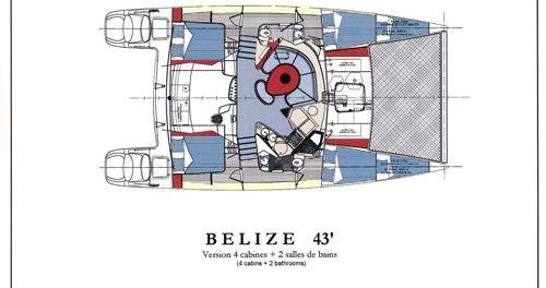 Huur een Fountaine Pajot Belize 43 in Lefkada (Island)