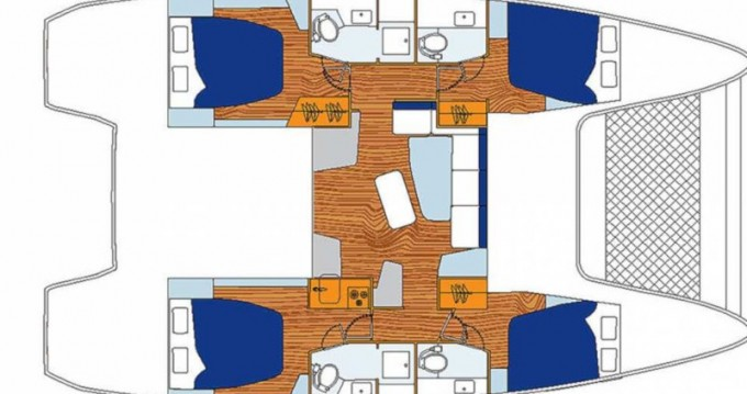 Verhuur Catamaran in Rodney Bay - Lagoon Sunsail 424