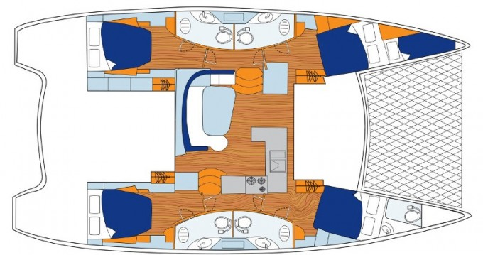 Jachthuur in Placencia - Leopard Sunsail 454L via SamBoat