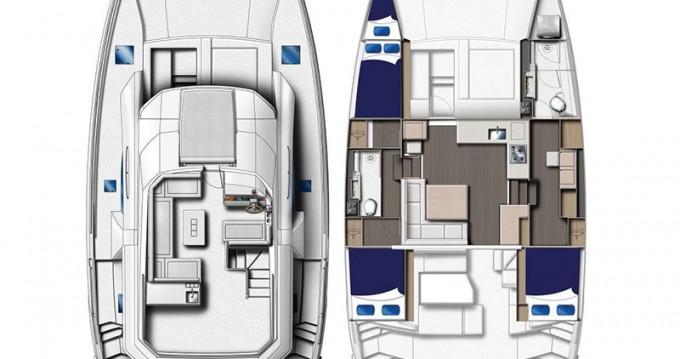 Verhuur Catamaran in Road Town - Leopard Moorings 433 PC