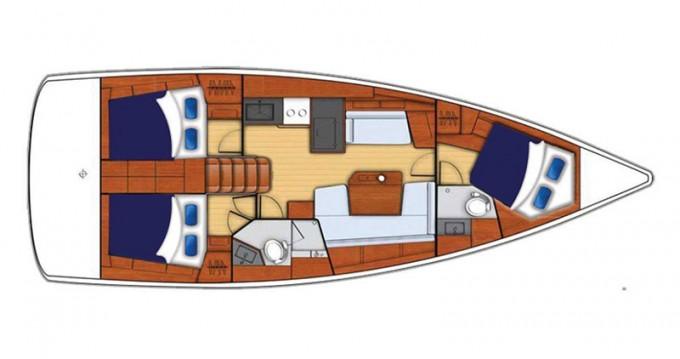 Verhuur Zeilboot in Marina - Bénéteau Moorings 42.1