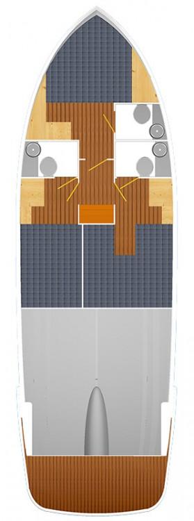 Verhuur Motorboot Cobra Yachts met vaarbewijs