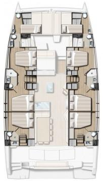 Verhuur Catamaran in Rogoznica - Catana Bali 5.4 - 6 + 2 cab.