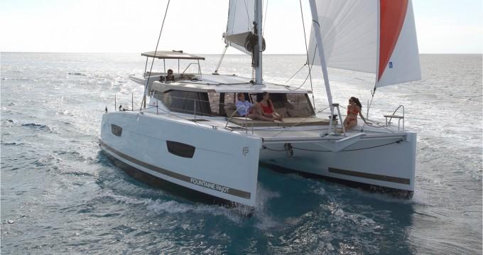 Bootverhuur Marina Cay goedkoop Lucia 40