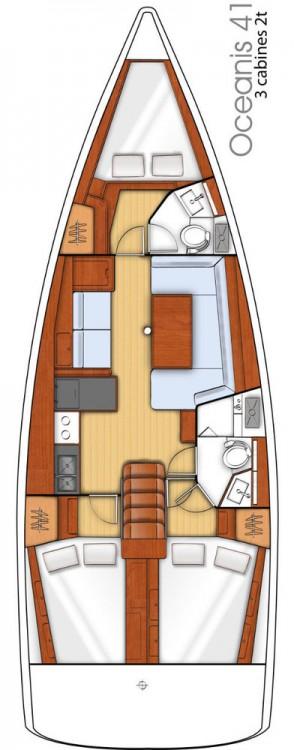 Verhuur Zeilboot in Attica - Bénéteau Oceanis 41