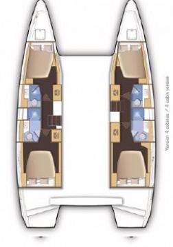 Verhuur Catamaran in Skiathos - Lagoon Lagoon 46