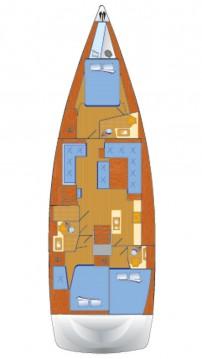 Bootverhuur Can Pastilla goedkoop Hanse 548 - 3 + 1 cab.