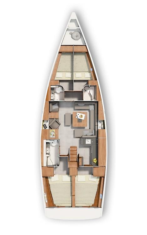 Huur Zeilboot met of zonder schipper Hanse in