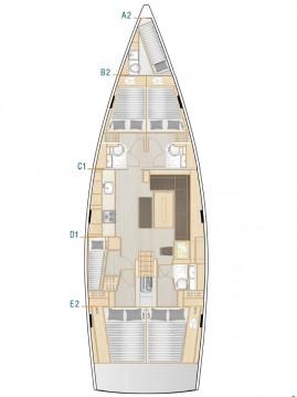Huur een Hanse Hanse 508 in Komolac