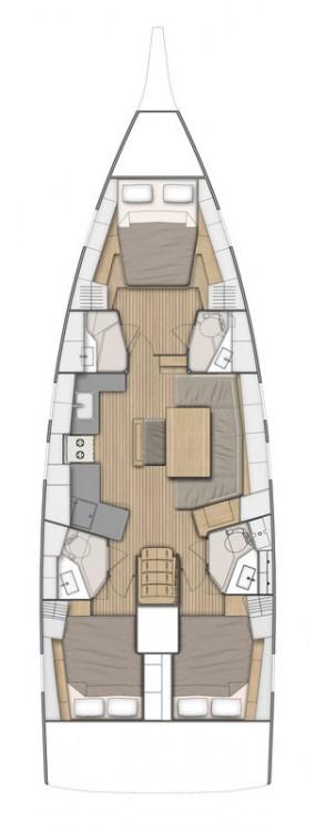 Jachthuur in Göcek - Bénéteau Oceanis 46.1 - 3 cab. via SamBoat