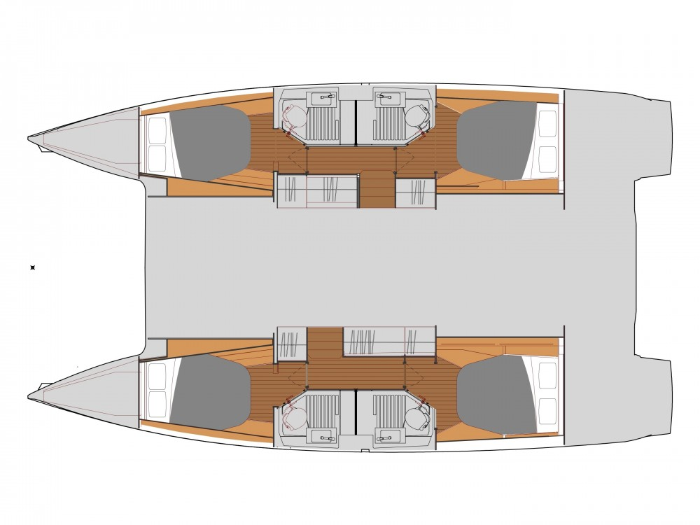 Huur een Fountaine Pajot Astrea 42 in Slano