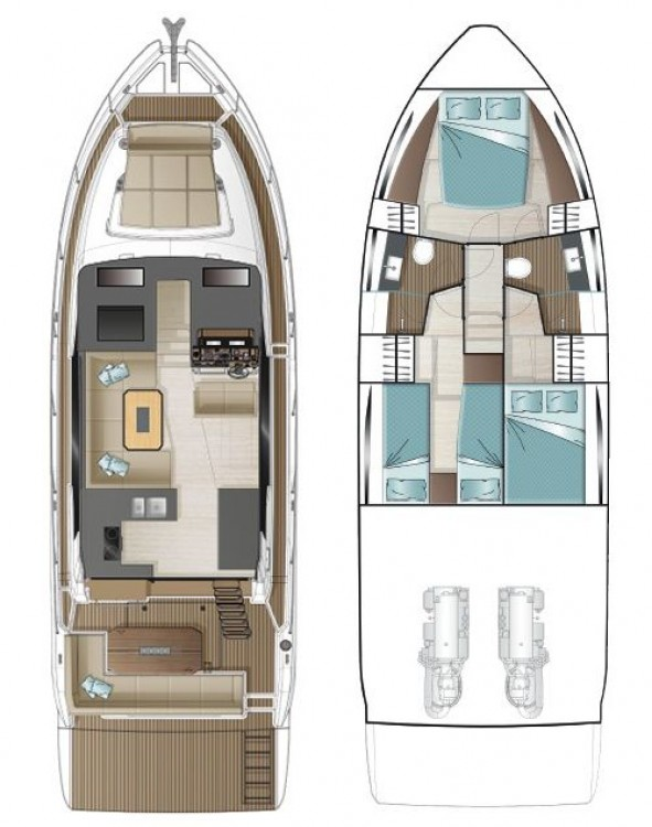 Huur Motorboot met of zonder schipper Sealine in Pula
