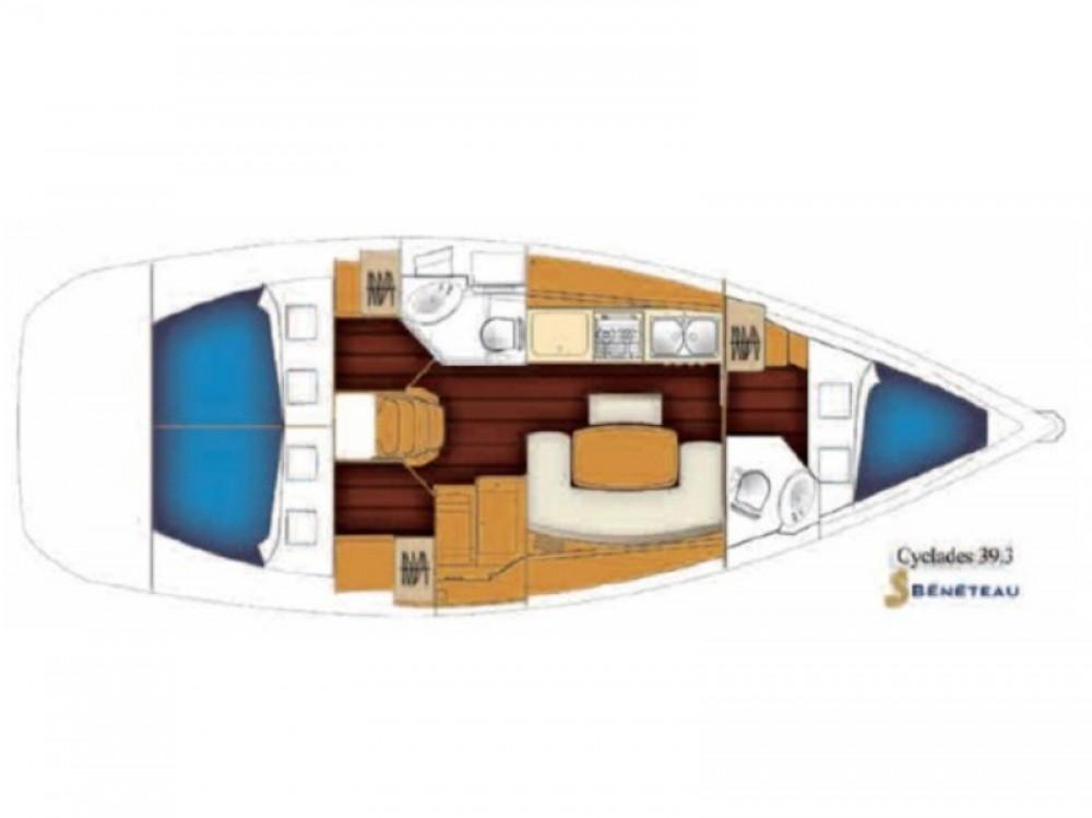 Bootverhuur Bénéteau Cyclades 39.3 in Rhodos via SamBoat