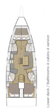 Bénéteau Oceanis 46.1 te huur van particulier of professional in Komolac