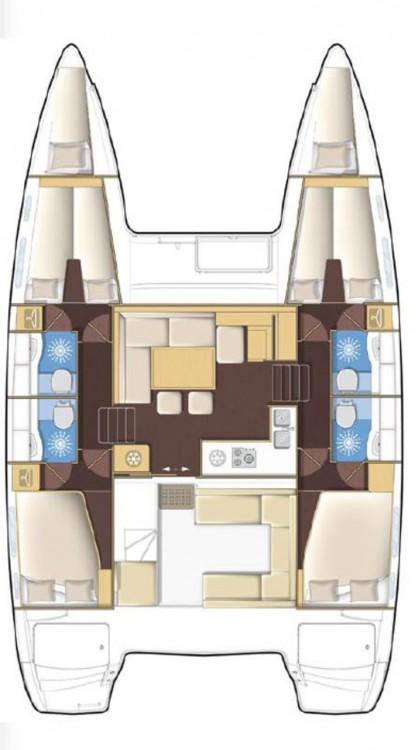 Bootverhuur  goedkoop Lagoon 400 S2 - 4 + 2 cab.