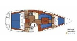 Bootverhuur Skiathos goedkoop Oceanis 343