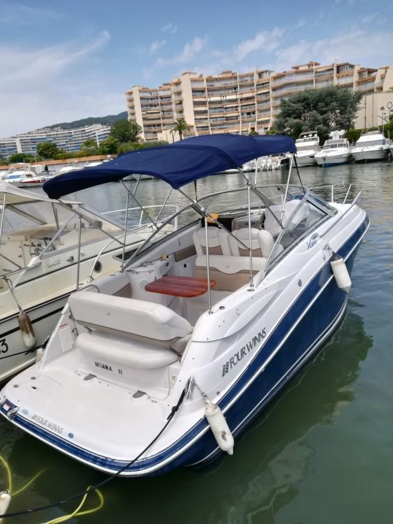 Verhuur Motorboot in Mandelieu-la-Napoule - Four Winns Vista 258