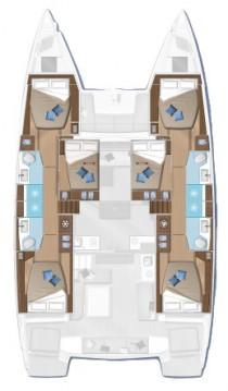 Verhuur Catamaran in Lefkada (Island) - Lagoon Lagoon 50