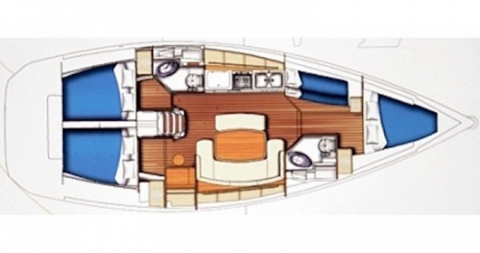 Verhuur Zeilboot in Castellammare di Stabia - Bénéteau Cyclades 434