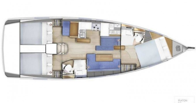 Verhuur Zeilboot in Lefkada (Island) - Jeanneau Sun Odyssey 410