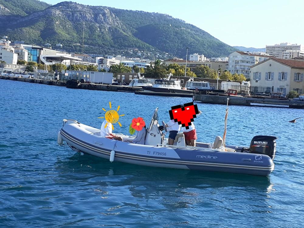 Verhuur Rubberboot in Toulon - Zodiac Medline 580