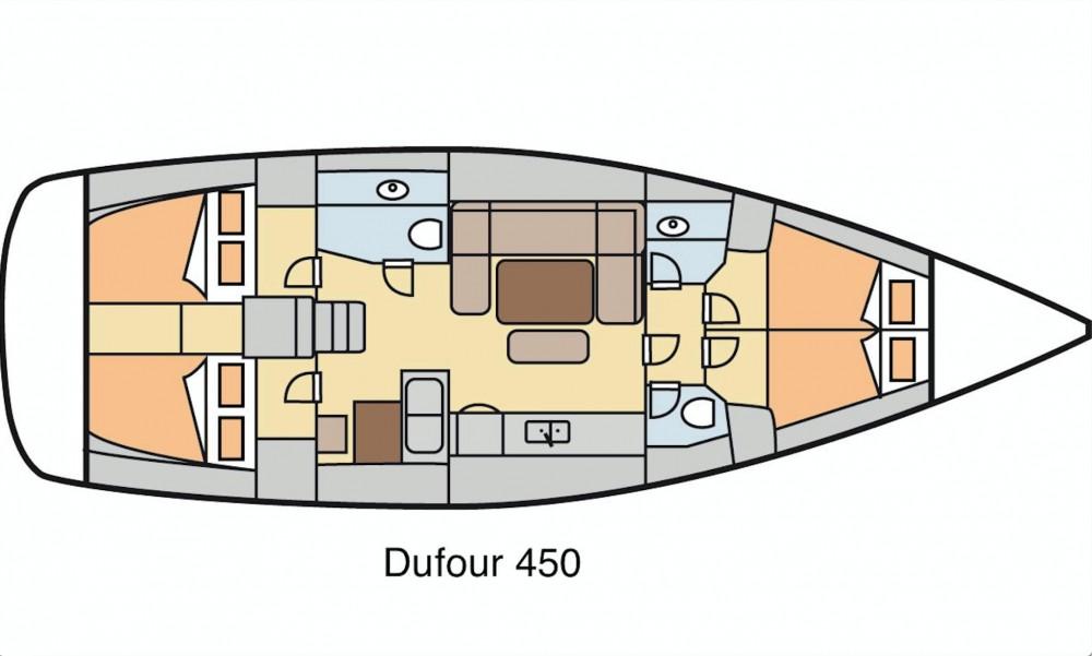 Huur een Dufour Dufour 450 GL in Marmaris