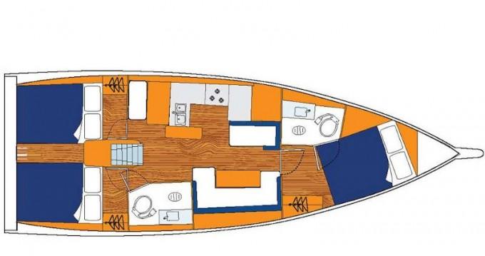 Verhuur Zeilboot Jeanneau met vaarbewijs