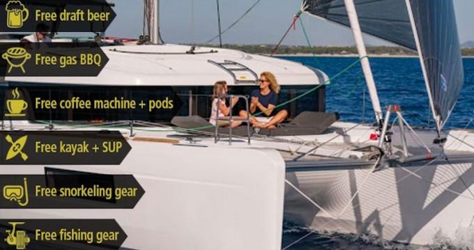 Bootverhuur Porto Pozzo goedkoop Lagoon 40