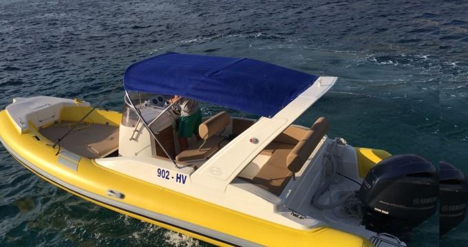 Verhuur Rubberboot Solemar met vaarbewijs