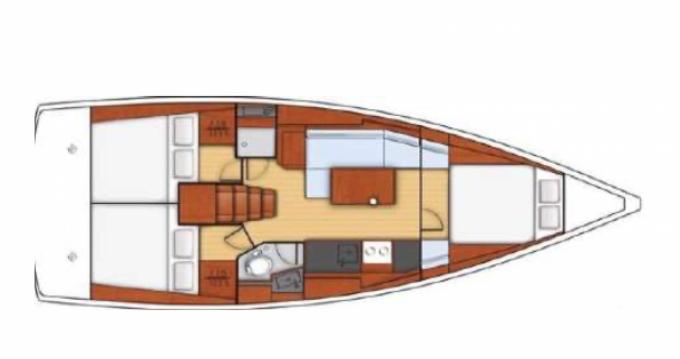 Jachthuur in Golfe-Juan - Oceanis Océanis 38.1 via SamBoat