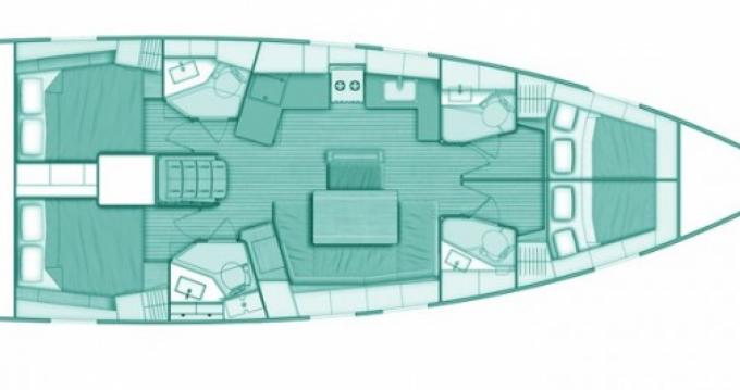 Verhuur Zeilboot in Lefkas Egremni - Bénéteau Oceanis 46