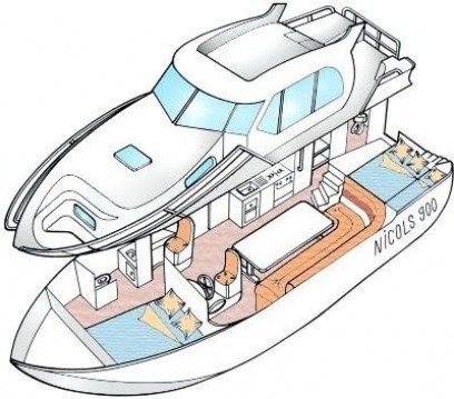 Verhuur Woonboot in Pontailler-sur-Saône - Classic Nicols 900